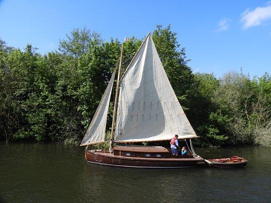 An original Broads sailing boat