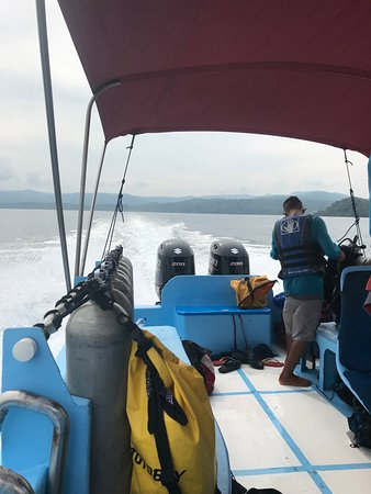 Dive boat getting the gear ready