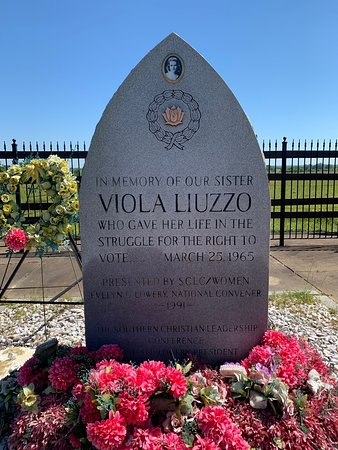 Viola Liuzzo's memorial is right next to the Zion AME church in Lowndesboro. Definitely worth a stop to reflect.