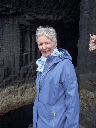 Me at Fingals Cave on Staffa