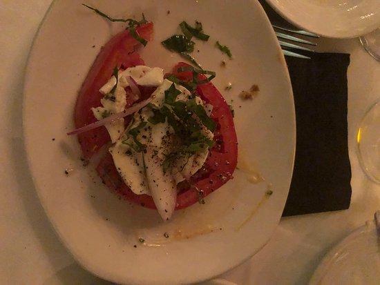 A small part of the caprese salad.