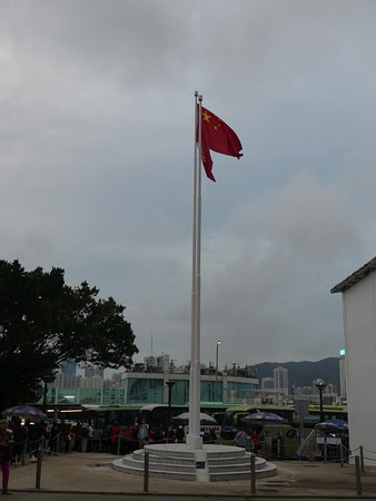 The flags of China and the Special Region of Hong Kong