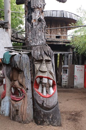 More wooden statues