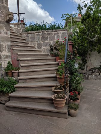 stairs in the courtyard