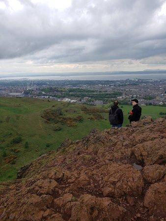At the peak.