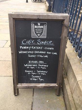 Sandwich Board in the street