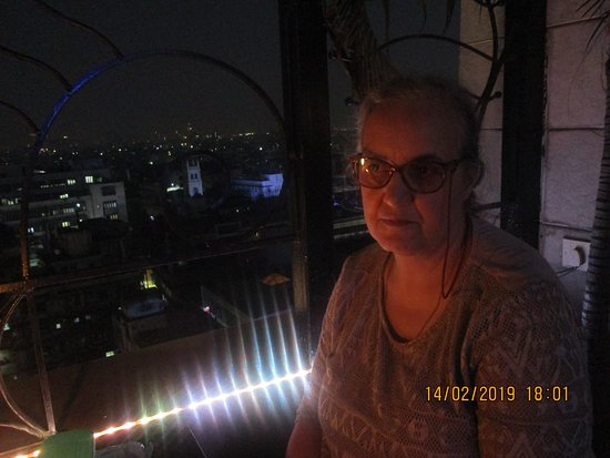 In the evening - on 9th Floor restaurant