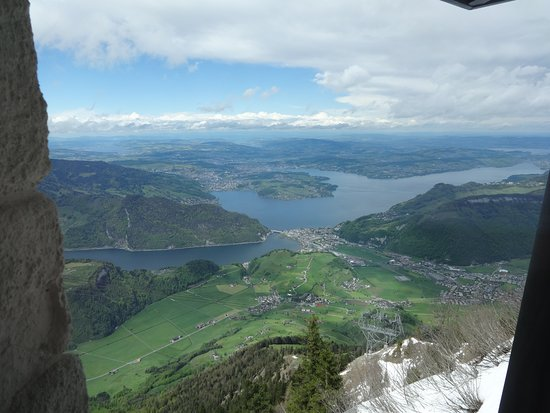 Skip the Line: CabriO Mt Stanserhorn Railway Ticket: View from CabriO cable car