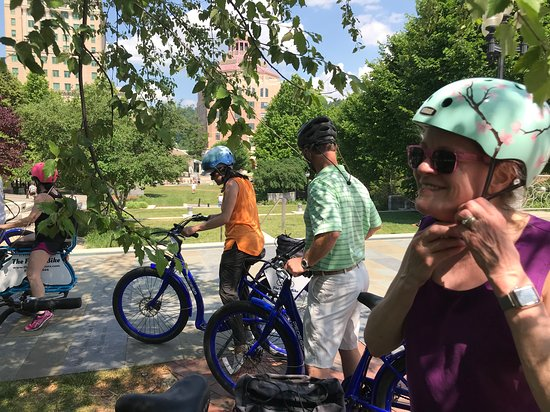 Asheville Historic Downtown Guided Electric Bike Tour with Scenic Views: Our trust steeds