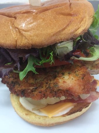 Home Style Crumbed Chicken Schnitzel Burger Picture Of Barmera Cafe Espresso Tripadvisor