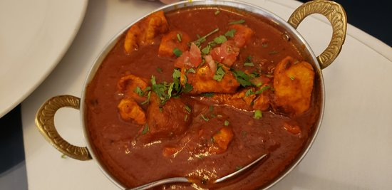 Indus Indian & Herbal Cuisine: Chicken vindaloo.  Somewhat spicy and a very interesting mix of foreign spices.