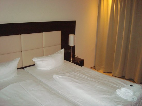 The beds in the first room
