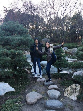 Friends enjoying the Japanese Garden