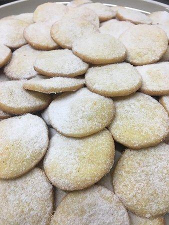 Orange flavour biscuits