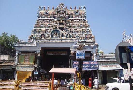 Tirunelveli District, India: Nellaiappar Temple is dedicated to the deity Shiva as Nellaiappar (also called Venuvananathar) represented by the lingam. It is classified as Paadal Petra Sthalam. The temple has a number of shrines, with those of Nelliappar, Natarajar and his consort Kanthimathi being the most prominent. Nellaiappar temple is spread over 14 acres. The gopuram of this temple is 850 feet long and 756 feet wide. Tirunelveli also is one of the five places where Lord Shiva is said to have displayed his dance