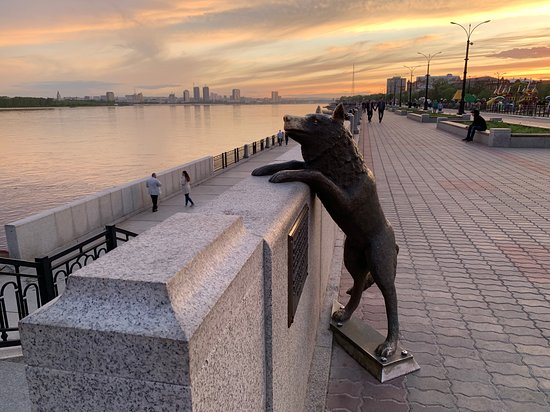 Monument Dog Named Druzhok