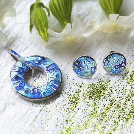 Exclusive silver fire enamel jewelry by NAMFLEG is inspired by the legacy of Carl Faberge