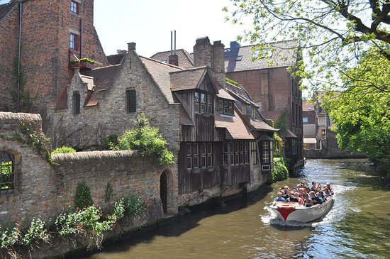 A view on a canal in Bruges.