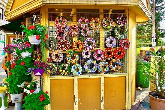 بودابست, المجر: Bir sokak çiçekcisi