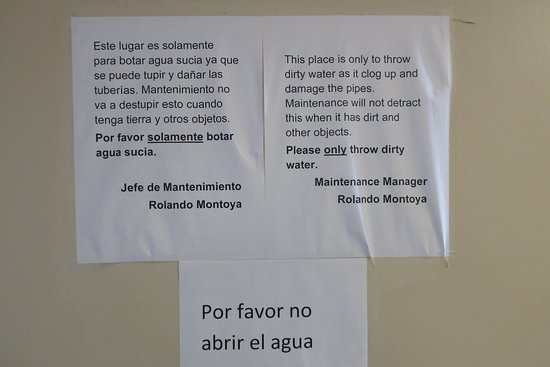 Sign in hallway