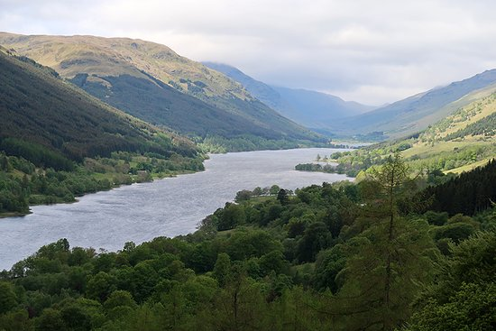 Scottish Guided Tours: Overlooking Loch Voil.