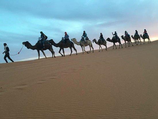 Overnight in Sahara desert, Morocco.