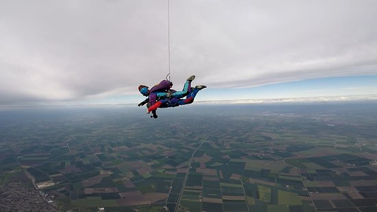 Me skydiving with Chris