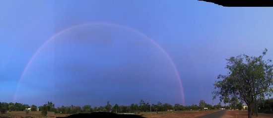 A rainbow in the Outback at Yowah Blue Wren Cafe