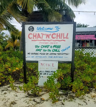 Chat 'N' ChillR: Signage at the Chat and Chill