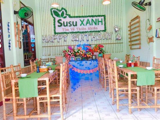 Nhà hàng Organic Susu Xanh: không gian tầng  1