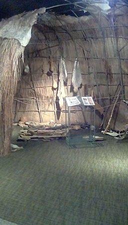 Miami, MO: Missouri American Indians cultural exhibits at van meter state park.