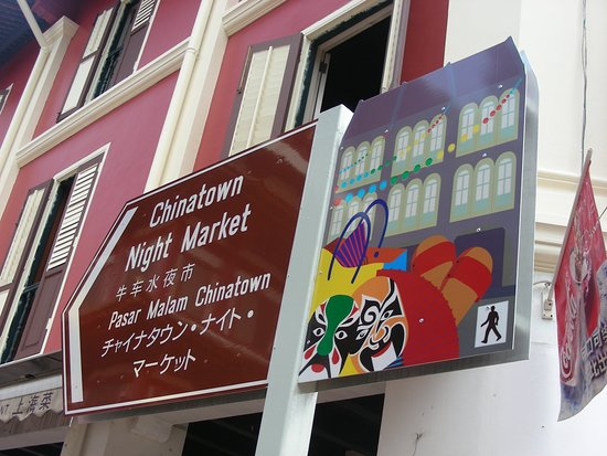 Chinatown, Singapore - following this sign and you are coming to the right place for chinese food! :)
