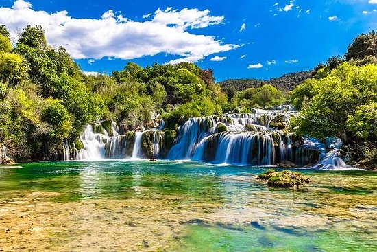 Krka watervallen tour & wijnproeverij