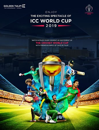 Enjoy the splendor of watching the ICC Cricket World Cup live on the screen with friends and family at Cafe De Tulip.