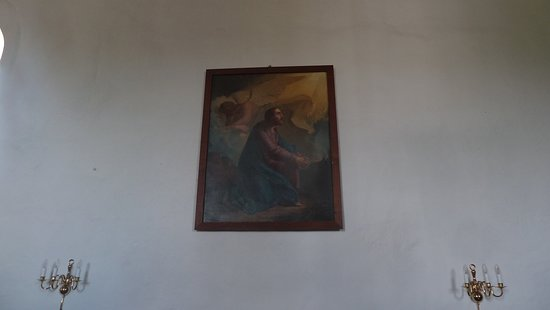 Fårup kirke - gamle altertavle på nordvæg