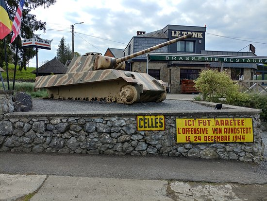 The Panther Tank Monument at Celles (07/May/19).