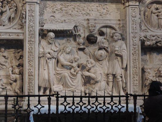 Catedral de Avila: Pormenor dos relevos