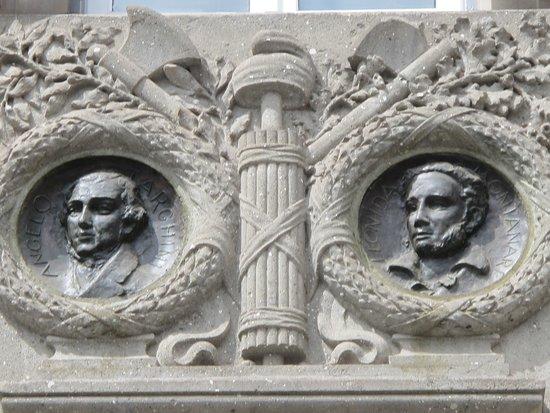 Lapide Angelo Targhini e Leonida Montanari