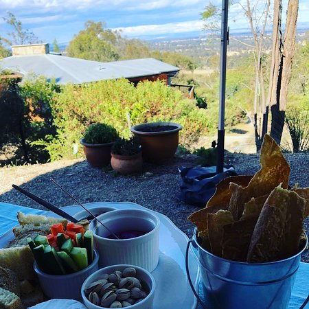 Share a grazing plate, a bottle of wine and the beautiful view.