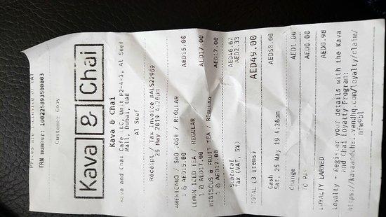 My receipt