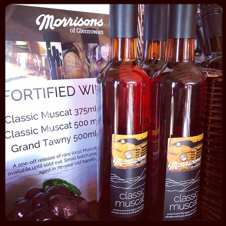 Morrisons of Glenrowan: We have two stunning fortified wines - a Grand Tawny and a Classic Muscat.
