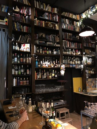 The bar back...