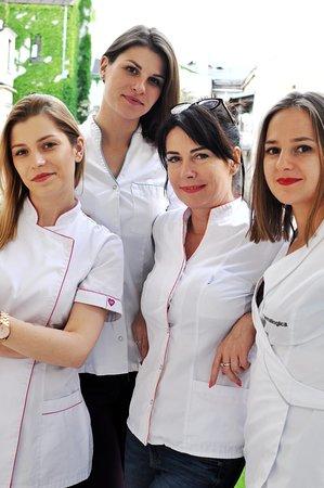 Team Tomasza SPA: Karolina - Beautician, Basia - massage therapist, Celina - Boss!, Ania - manager/beautician