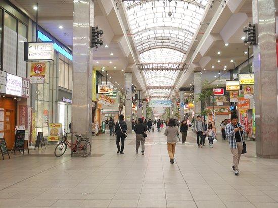 Okaido Shopping Street: 大街道の通り