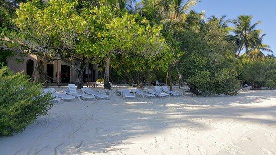 Clear beach area
