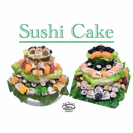 Chicco Sushi Experience: Per i Vostri eventi!  Le torte di #sushi 🍣🎂 #SushiCake 100pz misti ! 🔝 #nigiri #hosomaki #uramaki