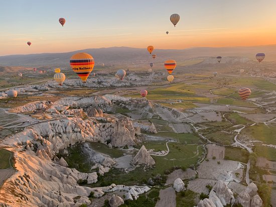 The magnificent view of Cappadocia