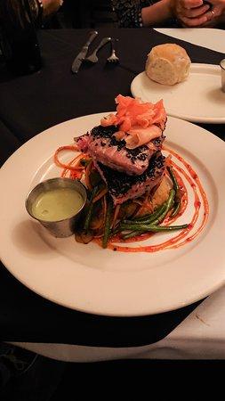 Cork Bar and Restaurant: Yellow fin tuna with wasabi sauce