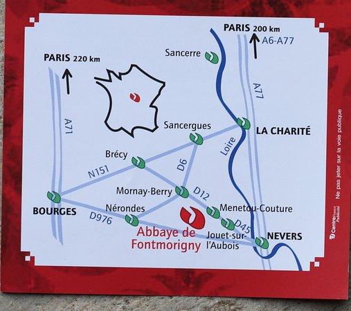Jouet sur l'Aubois, فرنسا: A Menetou-couture : Le flyer de l'abbaye de Fontmorigny