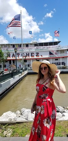 Steamboat Natchez Harbor Cruise: My beautiful wife and I getting ready to board.  So excited!  What a great 2 hour ride with jazz music, drinks, history of NOLA.  It was fantastic!!!!